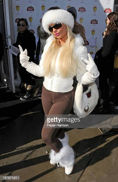 Nicole 'Coco' Austin attends Day 3 of the Stella Artois Lounge by Ally B at TMobile Google Music Village at The Lift on January 22 2012 in Park City...