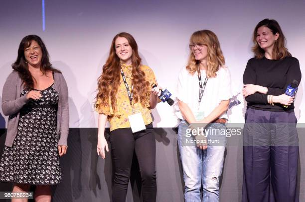 Nicole Cosgrove, Taylor Rose, Jeanne Tripplehorn and Elizabeth Crane attend the 'We Only Know So Much' Q&A at the 2018 Nantucket Film Festival - Day...