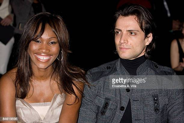Nicole Coste and etoile Giuseppe Picone attend the Grimaldi Giardina Haute Couture Spring/Summer 2009 fashion show on February 2 2009 in Rome Italy