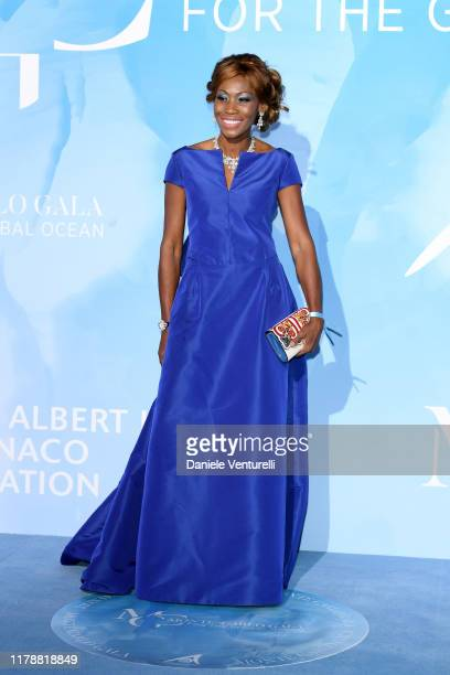 Nicole Coste attends the Gala for the Global Ocean hosted by HSH Prince Albert II of Monaco at Opera of MonteCarlo on September 26 2019 in MonteCarlo...