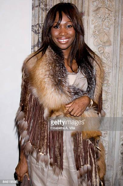 Nicole Coste attends the Grimaldi Giardina Haute Couture Spring/Summer 2009 fashion show on February 2 2009 in Rome Italy