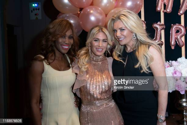 Nicole Coste Hofit Golan and Claire Caudwell attend Hofit Golan's birthday dinner at Onima on June 03 2019 in London England