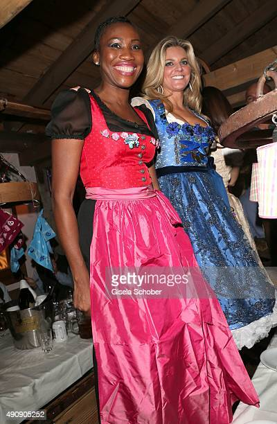 Nicole Coste mother of Albert of Monaco's son Alexandre and Natalie Lefevre during the Oktoberfest 2015 at Kaeferschaenke / Theresienwiese on Oktober...