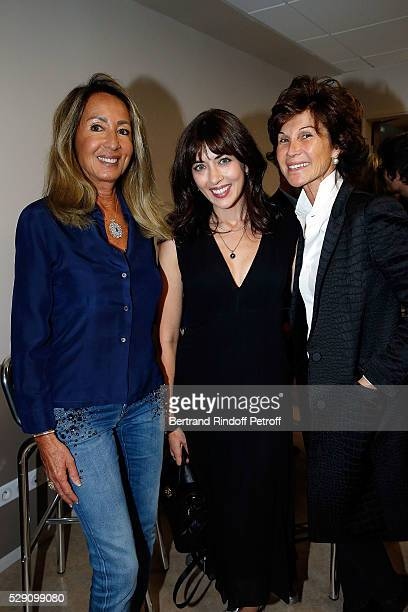 Nicole Coullier Nolwenn Leroy and Manager of Dior Montaigne Sylvie Rousseau attend the Michel Polnareff New Tour in France at AccorHotels Arena on...