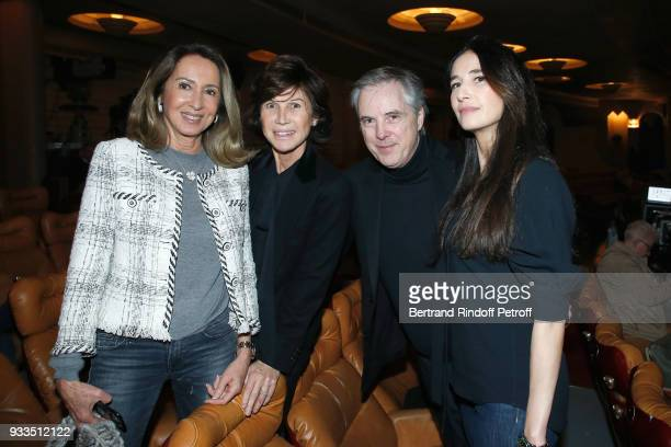 Nicole Coullier Sylvie Rousseau Olivier Lapidus and his wife Yara attend Sylvie Vartan performs at Le Grand Rex on March 16 2018 in Paris France