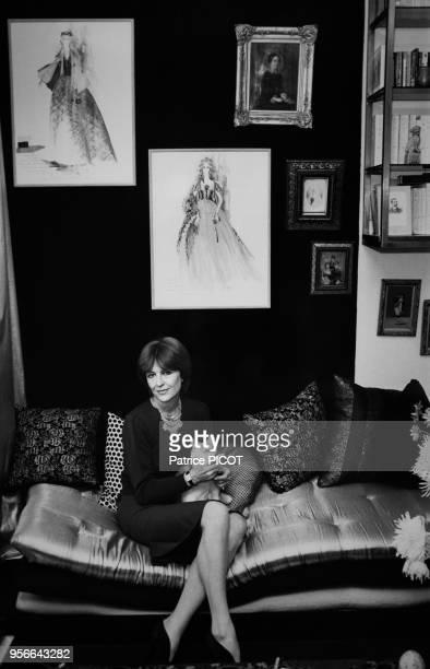 Nicole Courcel chez elle à Paris le 3 décembre 1979 France