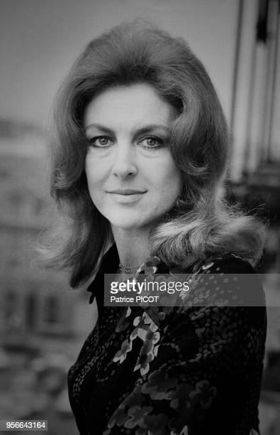 Nicole Courcel chez elle à Paris le 6 novembre 1972 France