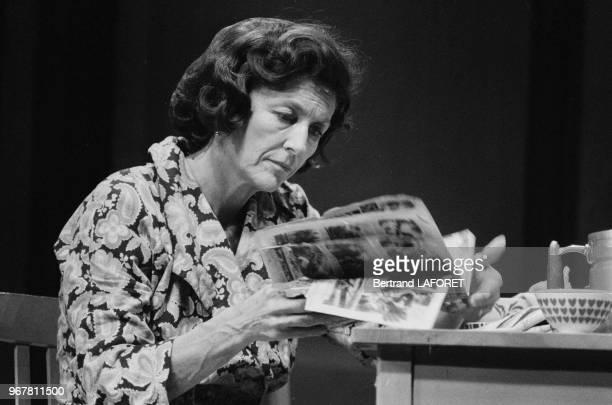 Nicole Courcel dans la pièce 'Une Journée Particulière' à Paris le 31 décembre 1982 France