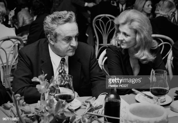 Nicole Courcel et Arthur Conte à la 200ème d'Oscar à Paris le 30 octobre 1972 France