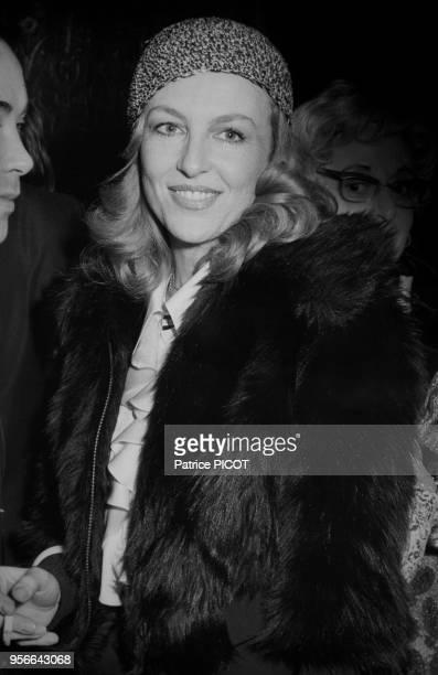 Nicole Courcel à la 1ère de 'Orphée aux Enfers' à Paris le 5 décembre 1972 France