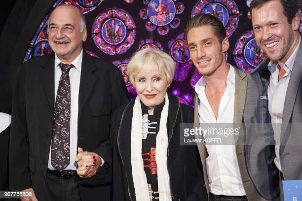 Nicole Croisille and David Lantin attend 'Sister Act The Musical' Gala Premiere at Theatre Mogador on September 20 2012 in Paris France