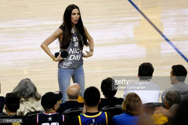 Nicole Curran is seen during Game Four of the 2019 NBA Finals between the Golden State Warriors and the Toronto Raptors at ORACLE Arena on June 07,...