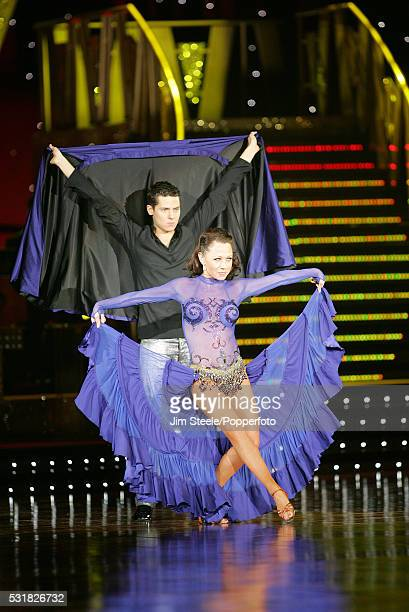 Nicole Cutler and Christopher Parker performing on stage during the Strictly Come Dancing Live event at Wembley Arena in London on the 25th January,...