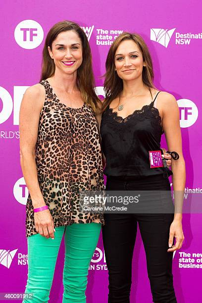 Nicole da Silva and guest at Tropfest 2014 on December 7 2014 in Sydney Australia