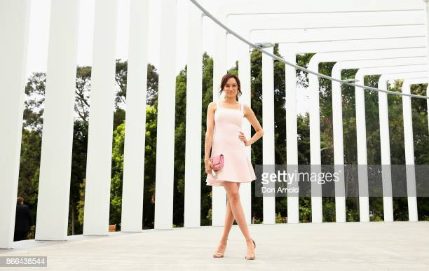 Nicole da Silva arrives ahead of the 11th Annual Cosmopolitan Women of the Year Awards on October 26 2017 in Sydney Australia