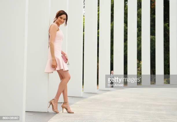 Nicole da Silva arrives ahead of the 11th Annual Cosmopolitan Women of the Year Awards on October 26 2017 in Sydney Australia