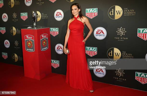 Nicole da Silva arrives ahead of the FFA Dolan Warren Awards at The Star on May 1 2017 in Sydney Australia