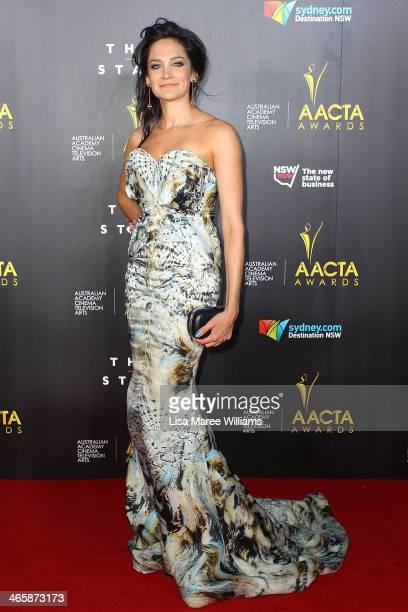 Nicole da Silva arrives at the 3rd Annual AACTA Awards Ceremony at The Star on January 30 2014 in Sydney Australia