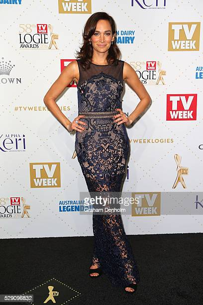 Nicole da Silva arrives at the 58th Annual Logie Awards at Crown Palladium on May 8 2016 in Melbourne Australia