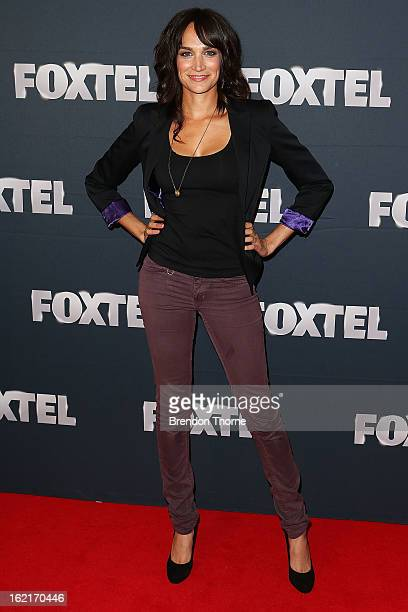 Nicole da Silva attends the 2013 Foxtel Launch at Fox Studios on February 20 2013 in Sydney Australia