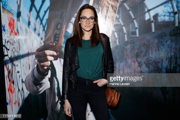 Nicole da Silva attends The Art of Banksy VIP preview on September 12 2019 in Sydney Australia