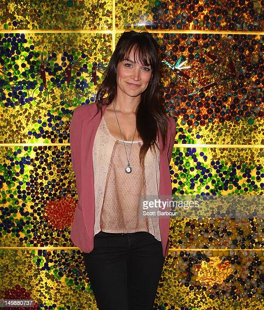 Nicole Da Silva poses at the 2012 Helpmann Awards Nominations Announcement at Melbourne Arts Centre on August 6 2012 in Melbourne Australia