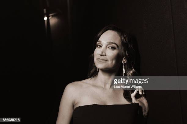 Nicole da Silva poses backstage during the 7th AACTA Awards Presented by Foxtel at The Star on December 6 2017 in Sydney Australia