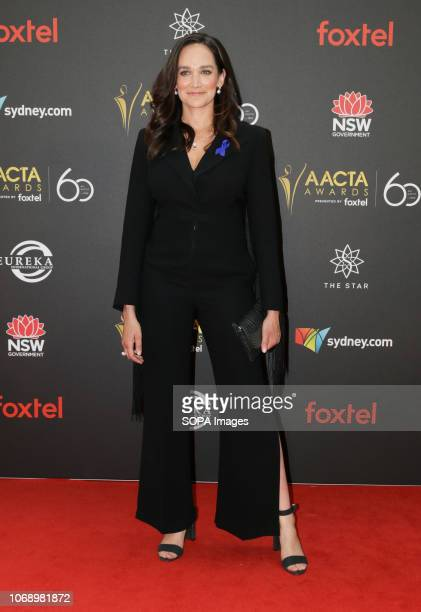 THE STAR SYDNEY NSW AUSTRALIA Nicole Da Silva seen on the red carpet during the 60th AACTA Awards in Sydney