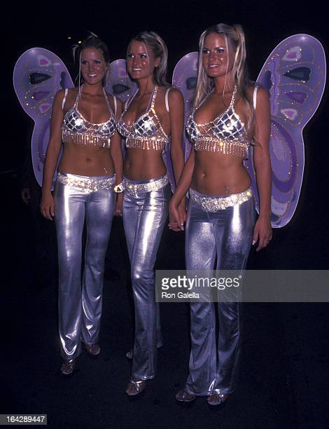 Nicole Dahm Erica Dahm and Jaclyn Dahm attend the party for Midsummer's Night Dream on July 31 2002 at the Playboy Penthouse in New York City