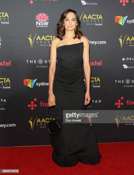 Nicole de Silva poses during the 7th AACTA Awards at The Star on December 6 2017 in Sydney Australia