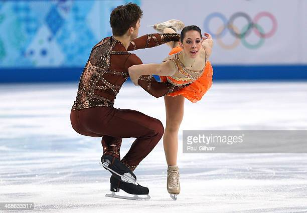 Nicole Della Monica and Matteo Guarise of Italy compete during the Figure Skating Pairs Short Program on day four of the Sochi 2014 Winter Olympics...