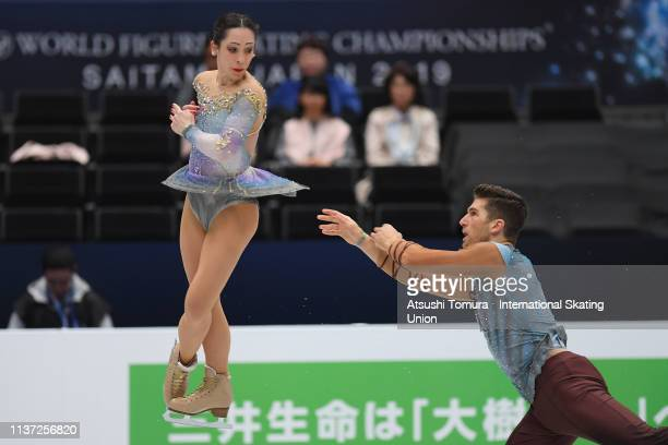 Nicole Della Monica and Matteo Guarise of Italy compete in the Pairs free skating during day 2 of the ISU World Figure Skating Championships 2019 at...