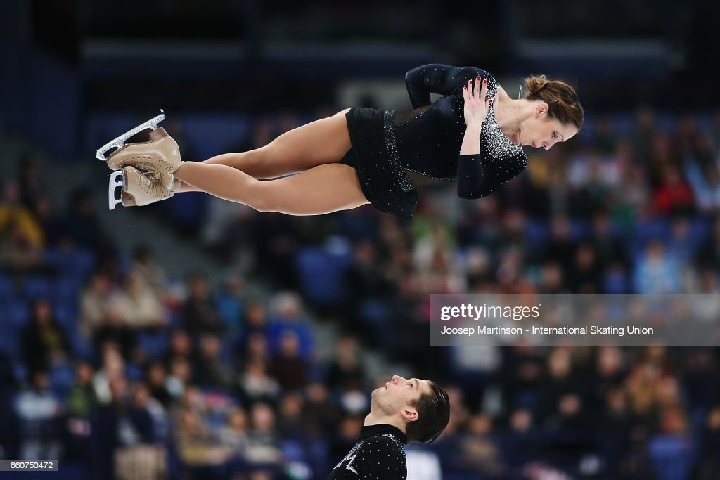 Nicole Della Monica and Matteo Guarise of Italy compete in the Pairs Free Skating during day two of the World Figure Skating Championships at Hartwall Arena on March 30, 2017 in Helsinki, Finland.
