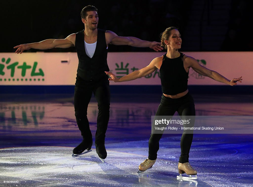 Nicole Della Monica and Matteo Guarise of Italy perform in the Exhibition Gala during the ISU Grand Prix of Figure Skating Skate Canada International at Hershey Centre on October 30, 2016 in Mississauga, Canada.