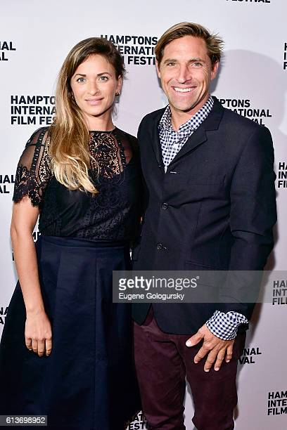 Nicole Delma and Jesse Spooner attend the Awards Dinner at the Hamptons International Film Festival 2016 at Topping Rose on October 9 2016 in...