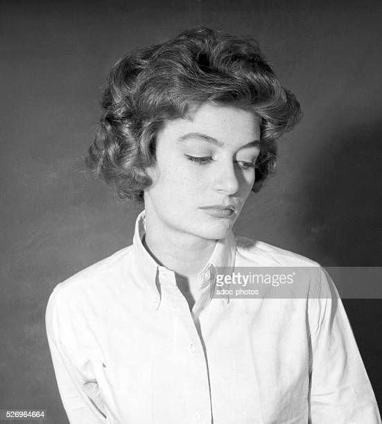 Nicole Dreyfus , called Anouk Aimee, French actress born in Paris . Ca. 1960.