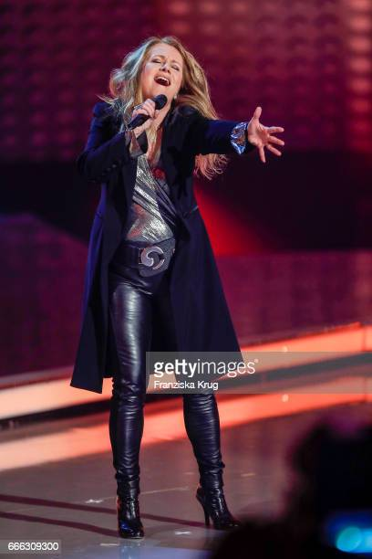 Nicole during the television show 'Willkommen bei Carmen Nebel' on April 8 2017 in Magdeburg Germany