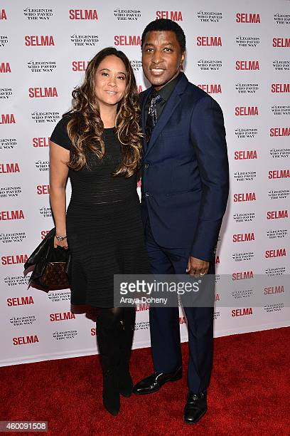 Nicole Edmonds and Kenneth Babyface Edmonds attend the Selma and The Legends Who Paved The Way Gala at Bacara Resort on December 6 2014 in Goleta...