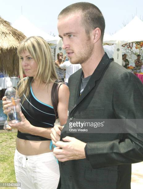Nicole Eggert Aaron Paul during Cabana PreMTV Movie Awards Beauty Buffet Day One at Private Residence in Hollywood California United States