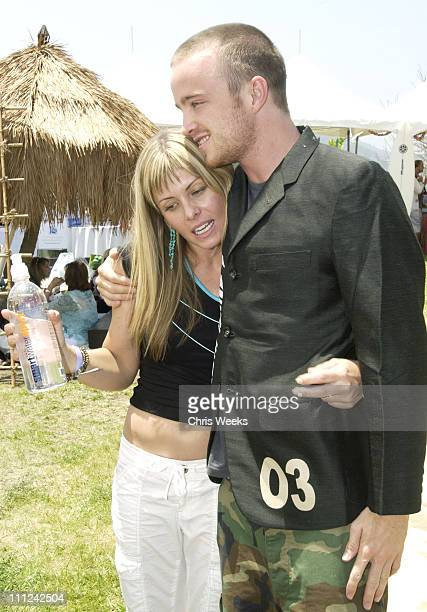 Nicole Eggert & Aaron Paul during Cabana Pre-MTV Movie Awards Beauty Buffet - Day One at Private Residence in Hollywood, California, United States.