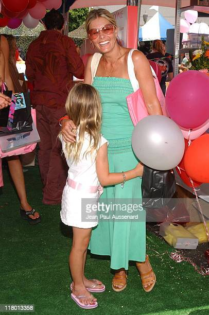 Nicole Eggert and daughter Dilyn at Lancome during Silver Spoon Hollywood Buffet - Day One at Private Estate in Hollywood, California, United States.