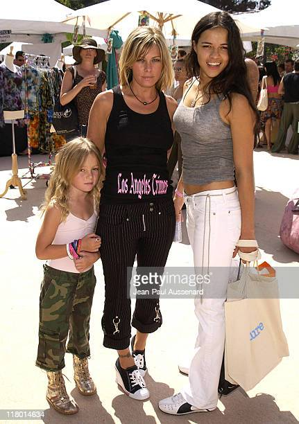 Nicole Eggert and daughter with Michelle Rodriguez Photo by JeanPaul Aussenard/WireImage for Silver Spoon