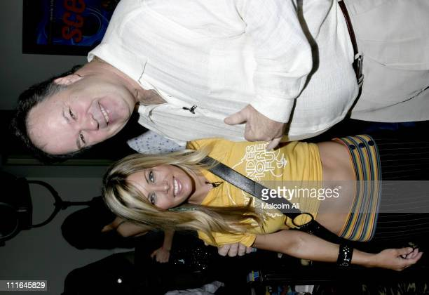 Nicole Eggert and Dennis Haskins during Scene It Hollywood Challenge at Hollywood History Museum in Hollywood California United States