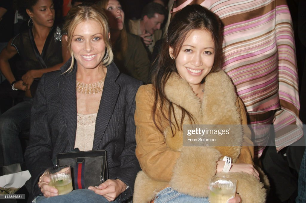 Nicole Eggert and Mara Lane during Cadillac Presents Rock & Republic Fall 2005 Fashion Show - Backstage and Front Row at Sony Studios in Culver City, California, United States.