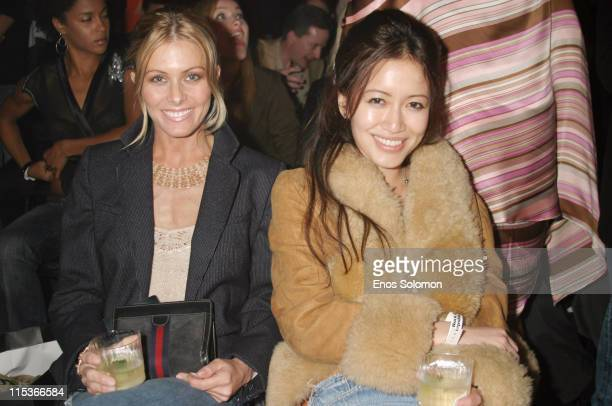 Nicole Eggert and Mara Lane during Cadillac Presents Rock & Republic Fall 2005 Fashion Show - Backstage and Front Row at Sony Studios in Culver City,...