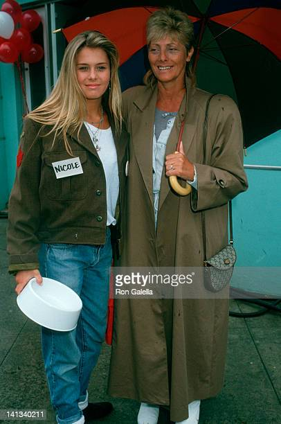 Nicole Eggert and mother at the Purina Pet Parent Progam Event Universal Studios Universal City
