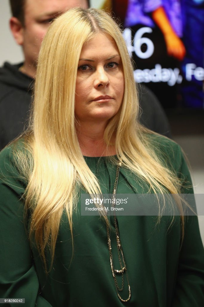 "Nicole Eggert (pictured) attends a press conference with Alexander Polinsky and attorney Lisa Bloom regarding sexual harassment allegations against Scott Baio at The Bloom Firm on February 14, 2018 in Woodland Hills, California. Polinsky is the second person, along with Nicole Eggert, to costarred with Baio in the 1980's sitcom ""Charles in Charge"" who have accused him of sexual harassment. Both Polinsky and Eggert were minors at the time."