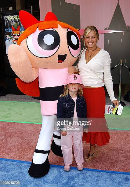 Nicole Eggert daughter Dilyn Blossom during The Powerpuff Girls Movie Premiere at Loews Century Plaza Theatre in Century City California United States