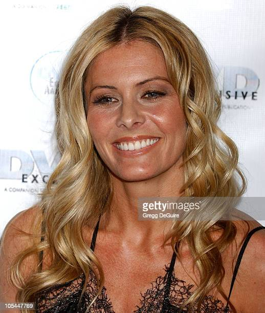 Nicole Eggert during 2005 DVD Exclusive Awards Arrivals at California Science Center in Los Angeles California United States