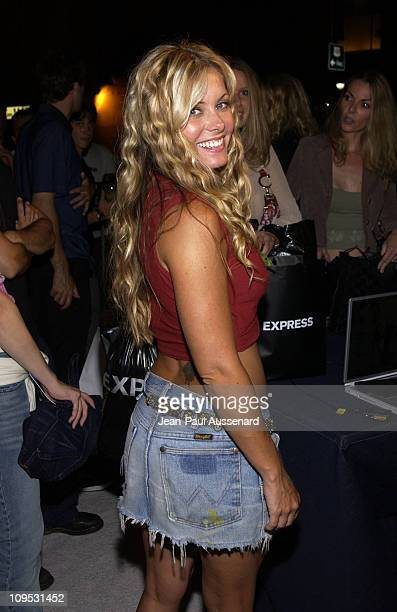 Nicole Eggert during Express Flagship Store Opening Arrivals at Hollywood Highland Shopping Center in Hollywood California United States